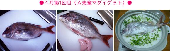 錦江湾の堤防で釣れた真鯛の調理画像